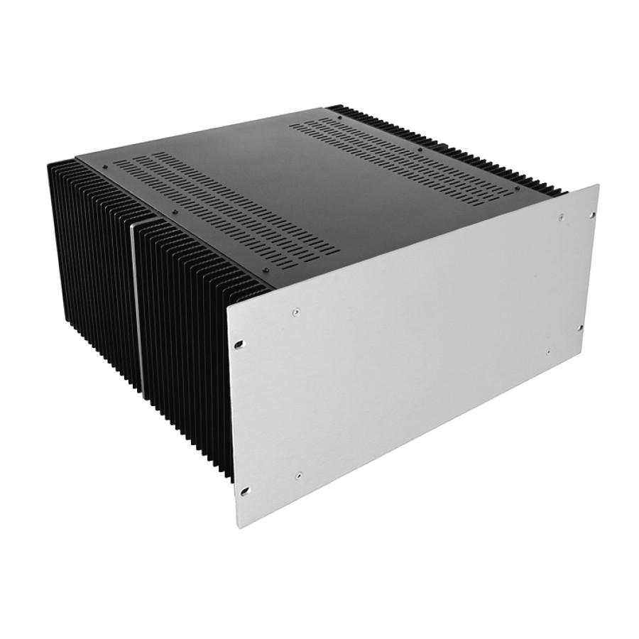 HIFI 2000 Heatsink Case 4U 400mm - Front 4mm Silver