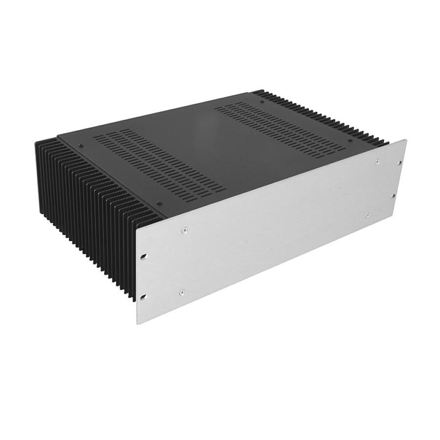 HIFI 2000 Heatsink Case 3U 300mm - Front 4mm Silver