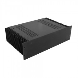 HIFI 2000 Heatsink Case 3U 300mm - Front 4mm Black