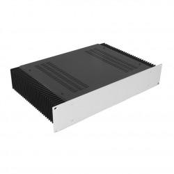 HIFI 2000 Heatsink Case 2U 300mm - Front 4mm Silver
