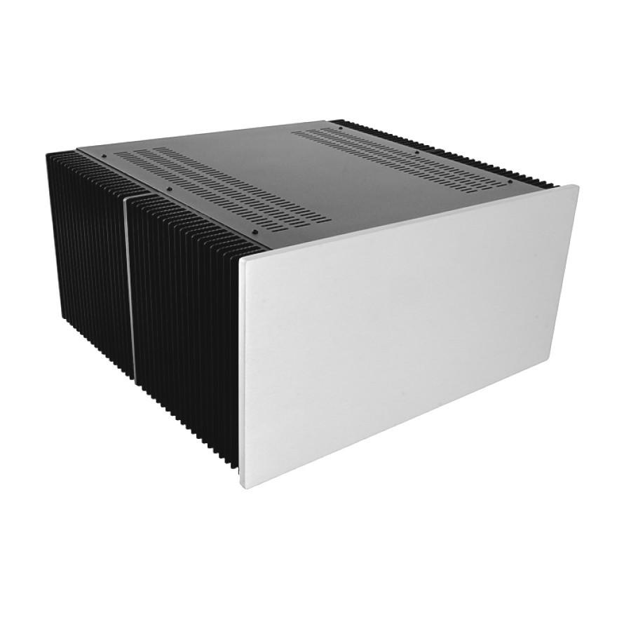 HIFI 2000 Heatsink Case 5U 400mm - Front 10mm Silver