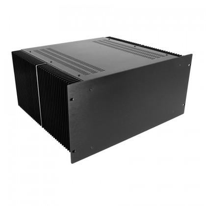 HIFI 2000 Boitier dissipateur 5U 400mm - Facade 4mm Noir