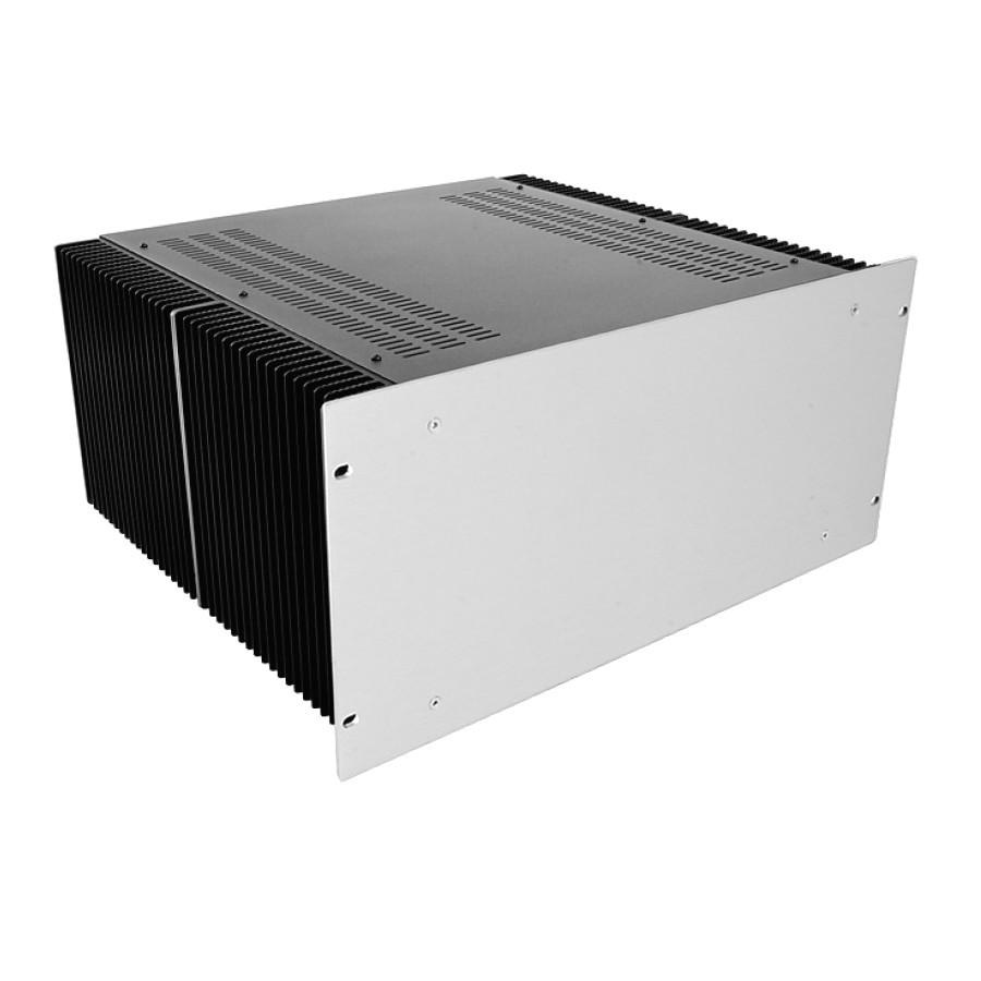 HIFI 2000 Heatsink Case 5U 400mm - Front 4mm Silver