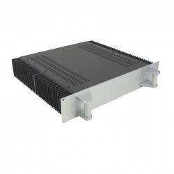 HIFI 2000 Heatsink Case 2U 400mm - Front 4mm Silver