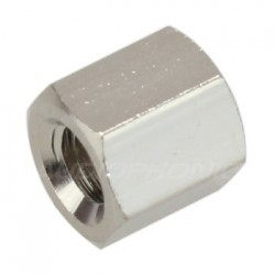 Nickel-Plated Brass Spacers M3x5mm Female / Female (x10)