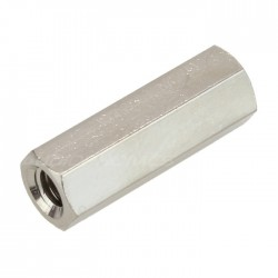 Nickel-Plated Brass Spacers M3x15mm Female / Female (x10)