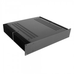 HIFI 2000 Heatsink Case 2U 400mm - Front 4mm Black