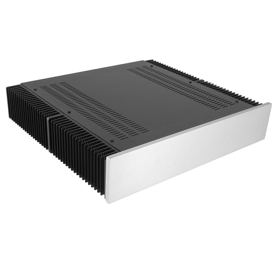 HIFI 2000 Heatsink Case 2U 400mm - Front 10mm Silver