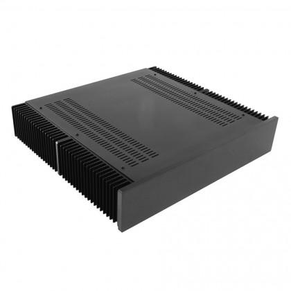 HIFI 2000 Boitier dissipateur 2U 400mm - Facade 10mm Noir
