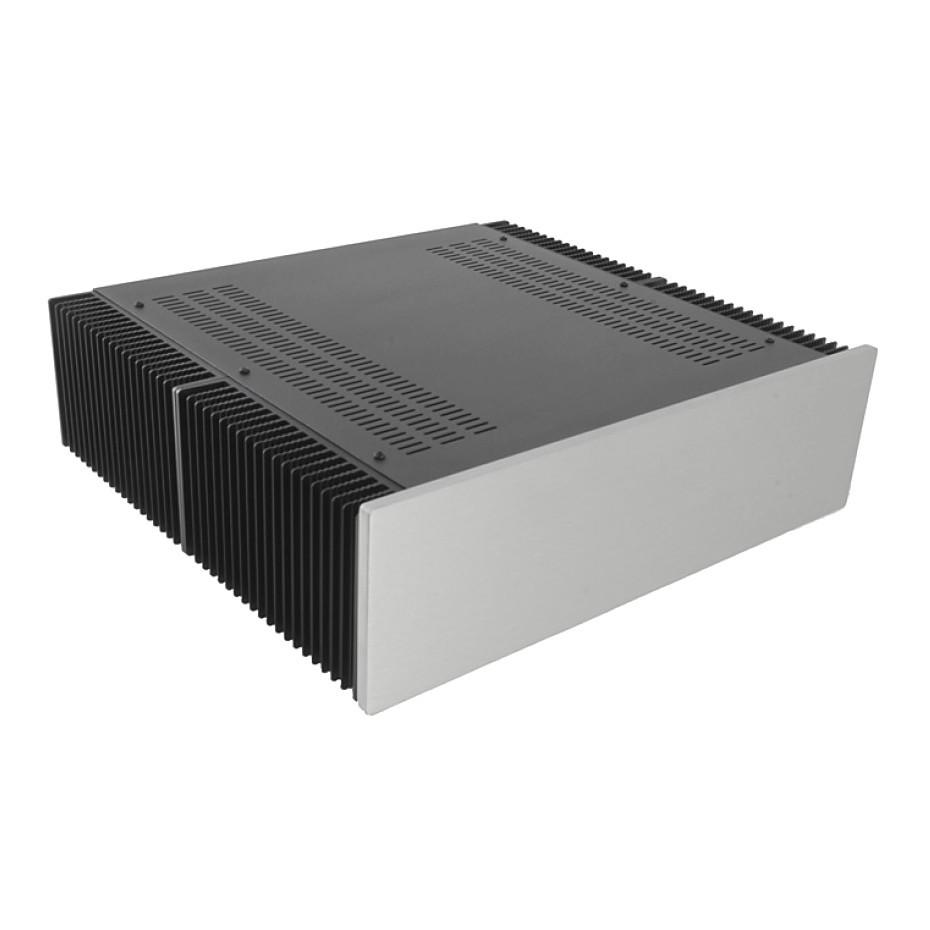HIFI 2000 Heatsink Case 3U 400mm - Front 10mm Silver