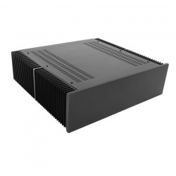 HIFI 2000 Heatsink Case 3U 400mm - Front 10mm Black