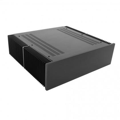 HIFI 2000 Boitier dissipateur 3U 400mm - Facade 10mm Noir