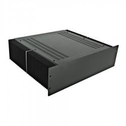 HIFI 2000 Boitier dissipateur 3U 400mm - Facade 4mm Noir