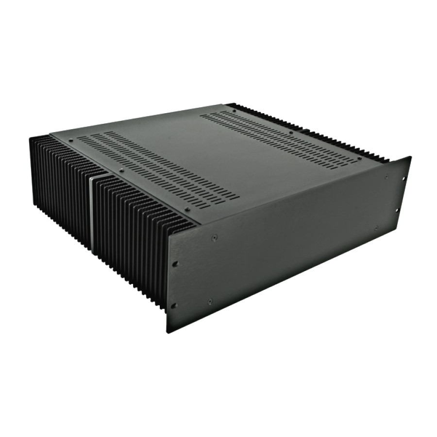 HIFI 2000 Heatsink Case 3U 400mm - Front 4mm Black