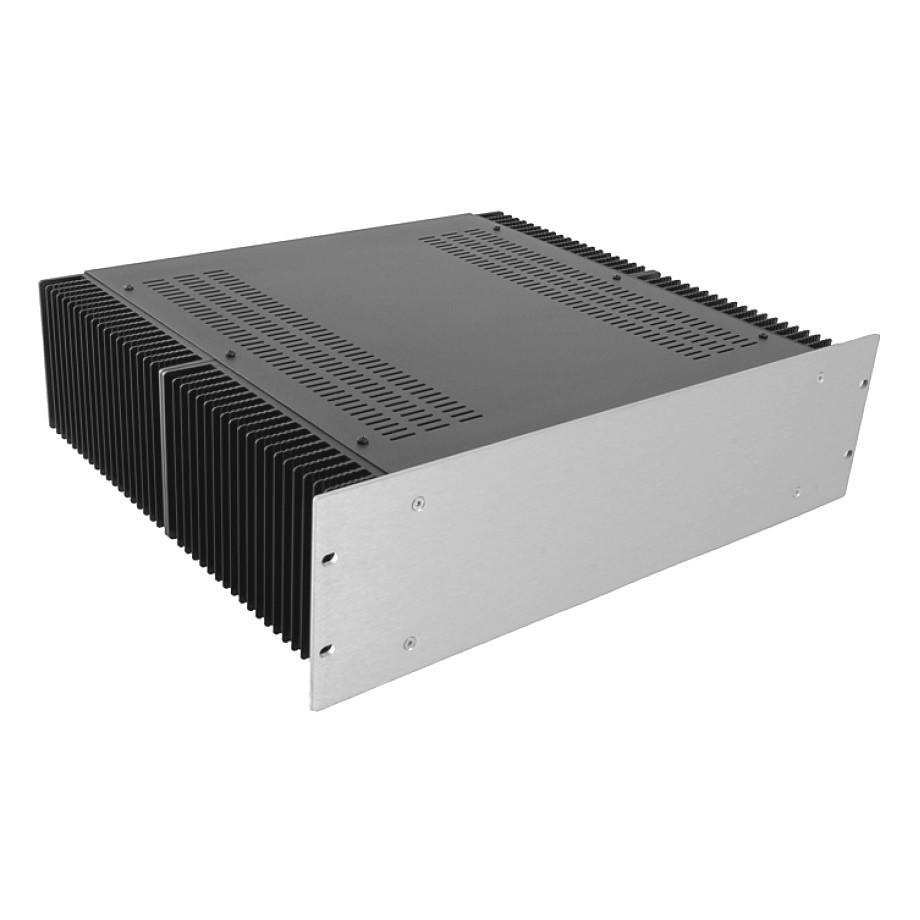HIFI 2000 Heatsink Case 3U 400mm - Front 4mm Silver