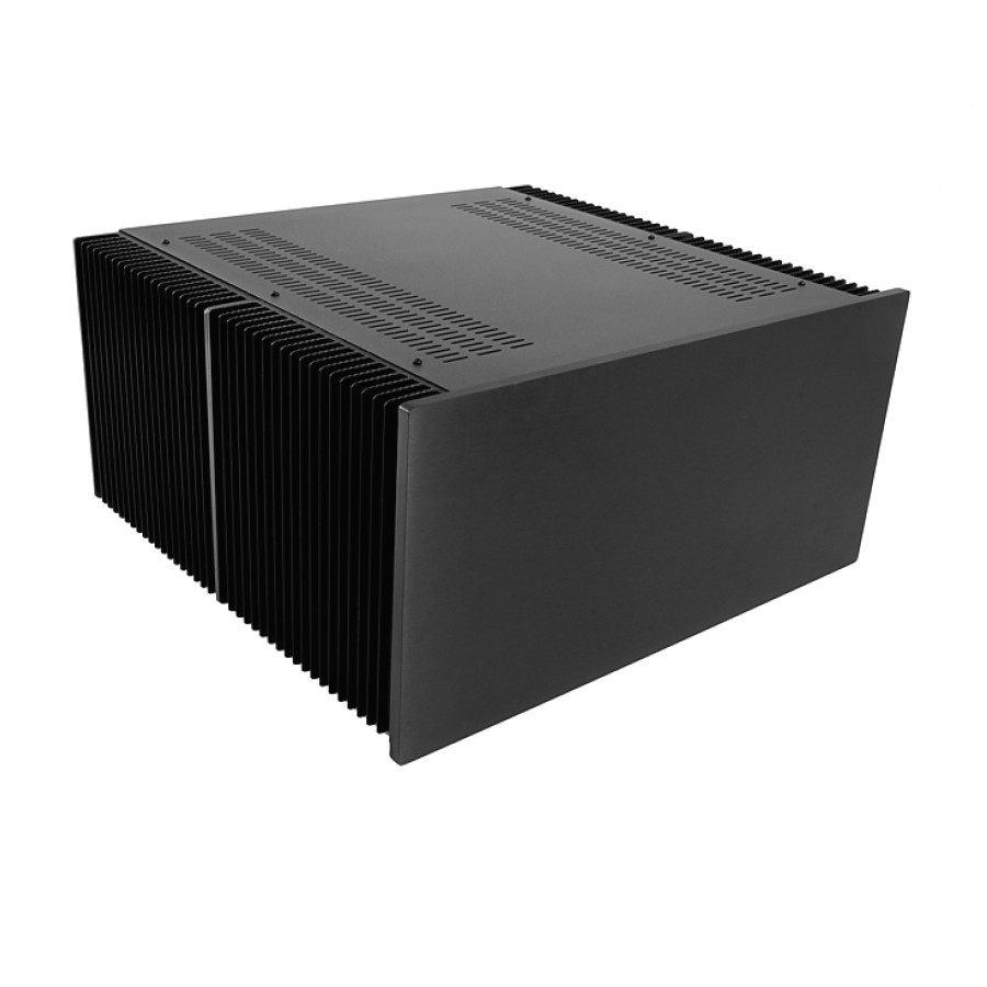 HIFI 2000 Case with Heatsink 5U 500mm 10mm Black Front Panel