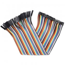 Female - Female 2.54 to 2.0mm GPIO Jumper Wires 20cm (x40)