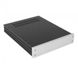 HIFI 2000 Boitier GX248 - 40x230x280 - Facade 10mm Silver