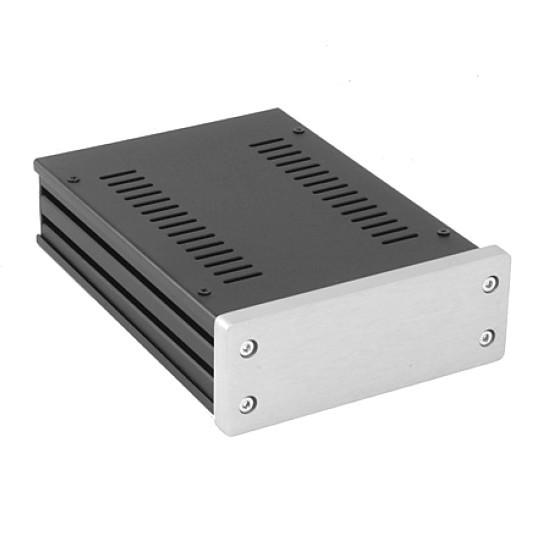 HIFI 2000 Boitier GX147 40x124x170 - Facade 10mm Silver