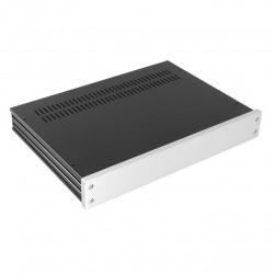 HIFI 2000 Boitier GX343 40x330x230 - Facade 10mm Silver