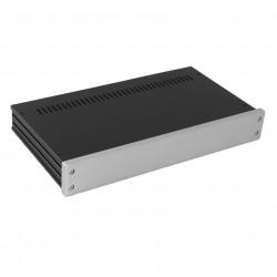 HIFI 2000 Boitier GX347 40x330x170 - Facade 10mm Silver