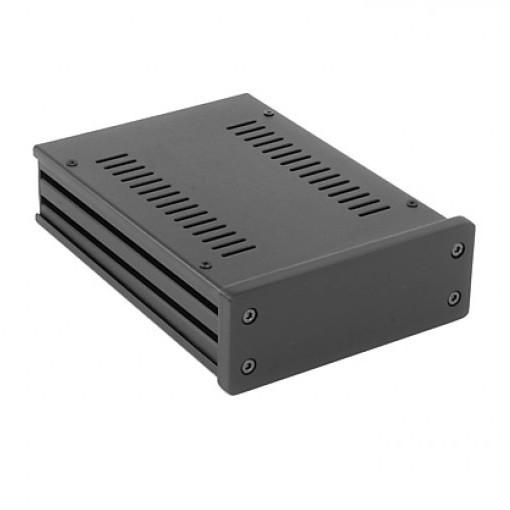 HIFI 2000 Boitier GX147 40x124x170 - Facade 10mm Noire