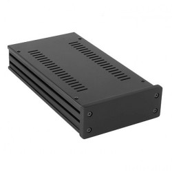 HIFI 2000 Boitier GX143 40x124x230 - Facade 10mm Noire