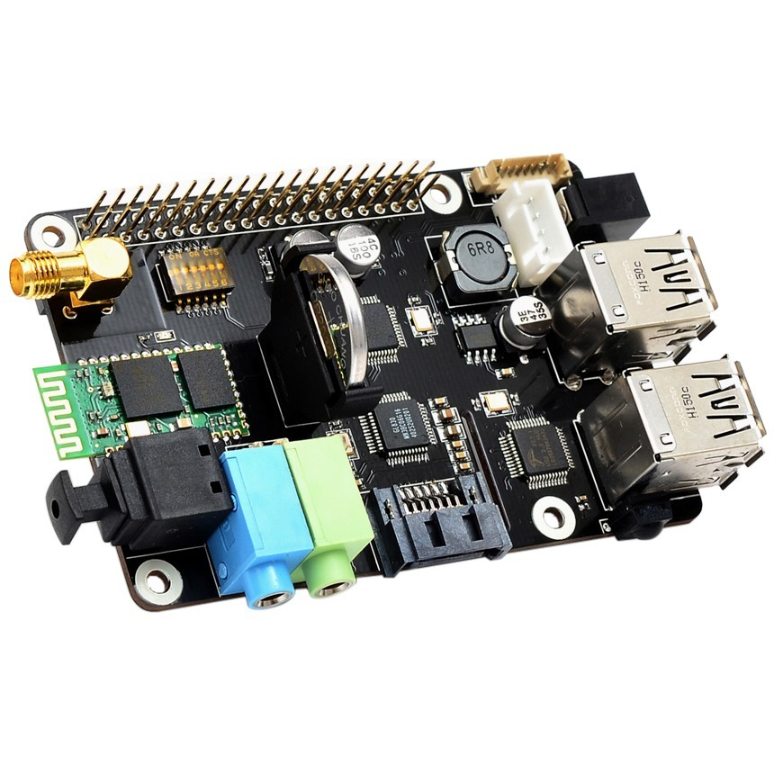 SUPTRONICS X300 HAT Module Board Wifi / Bluetooth / Toslink / Sata for Raspberry Pi 2 / Pi 3
