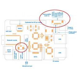 ST300 Kit Connectique Entrée Micro et sortie Haut parleurs