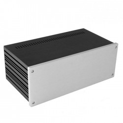 HIFI 2000 Boitier 10mm GX387 - 80x330x170 - Facade Silver