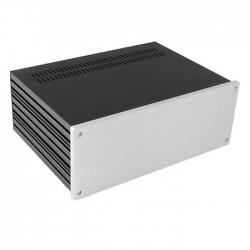 HIFI 2000 Boitier 10mm GX383 - 80x330x230 - Facade Silver