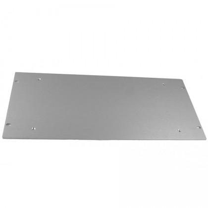 Facade aluminium 4mm 5U Silver