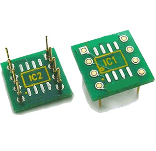 Adaptateur pour AOP 8pin 2xSOIC simple vers 1xDIP double