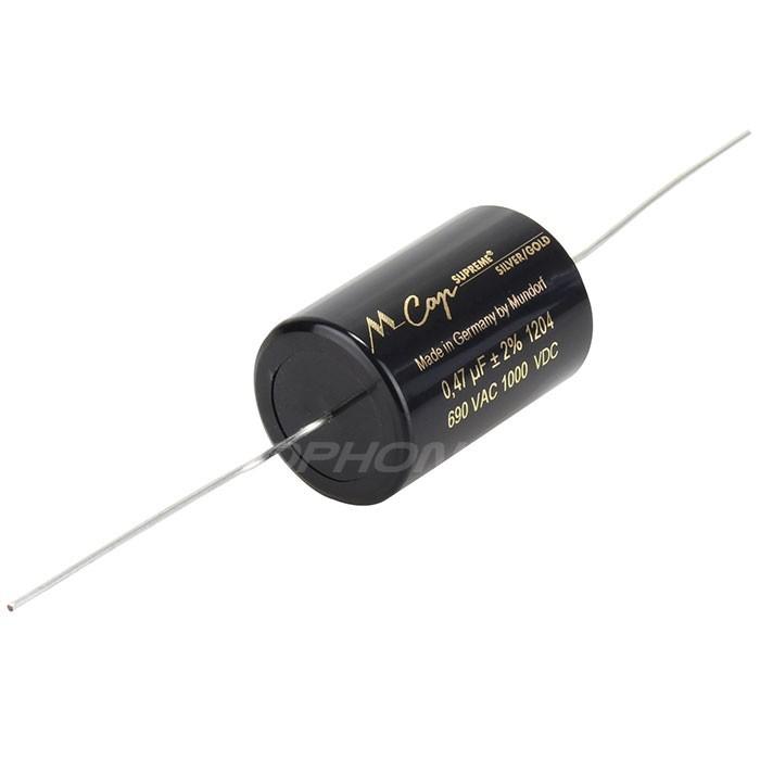 MUNDORF MCAP SUPREME SILVERGOLD Condensateur 1000V 1µF