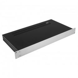 HIFI 2000 Case Slimline 1U 230mm - Front 4mm Silver
