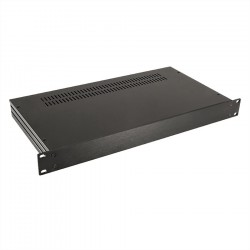 HIFI 2000 Case Slimline 1U 230mm - Front 4mm Black