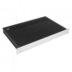 HIFI 2000 Case Slimline 1U 350mm - Front 4mm Silver