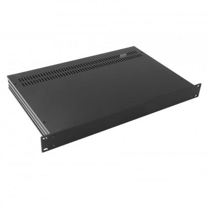 HIFI 2000 Boitier Slimline 1U 350mm - Facade 4mm Noir