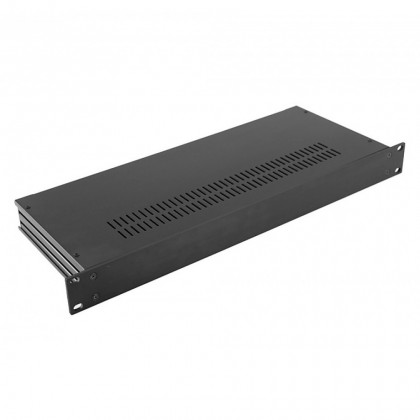 HIFI 2000 Slimline 1U Chassis 170mm - 4mm front Black