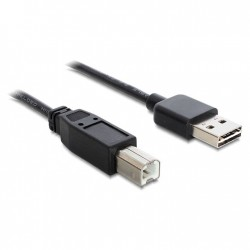 DELOCK EASY-USB 2.0 Cable USB-A male to USB-B male 1m