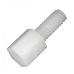 Entretoise M2.5 Nylon pas de vis 5mm (x10)