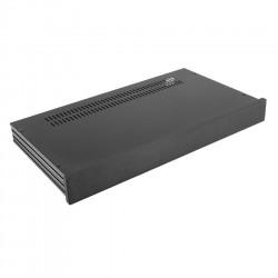 HIFI 2000 Boitier Slimline 1U 230mm - Facade 10mm Noir