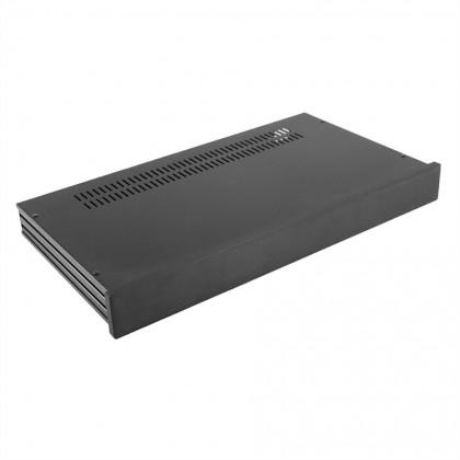 HIFI 2000 Slimline 1U Chassis 230mm -10mm front Black