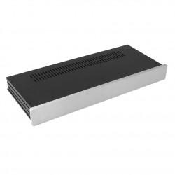 HIFI 2000 Case Slimline 1U 170mm - Front 10mm Silver