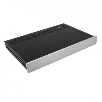 HIFI 2000 Slimline 1U Chassis 280mm - 10mm front Silver