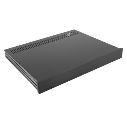 HIFI 2000 Boitier Slimline 1U 350mm - Facade 10mm Noir