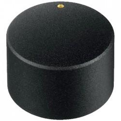 Bouton Axe Cranté 25x18mm Ø6mm Noir pour Potentiomètre