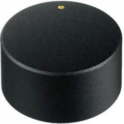 Bouton noir 30×18mm pour potentiomètre Axe cranté Ø6mm