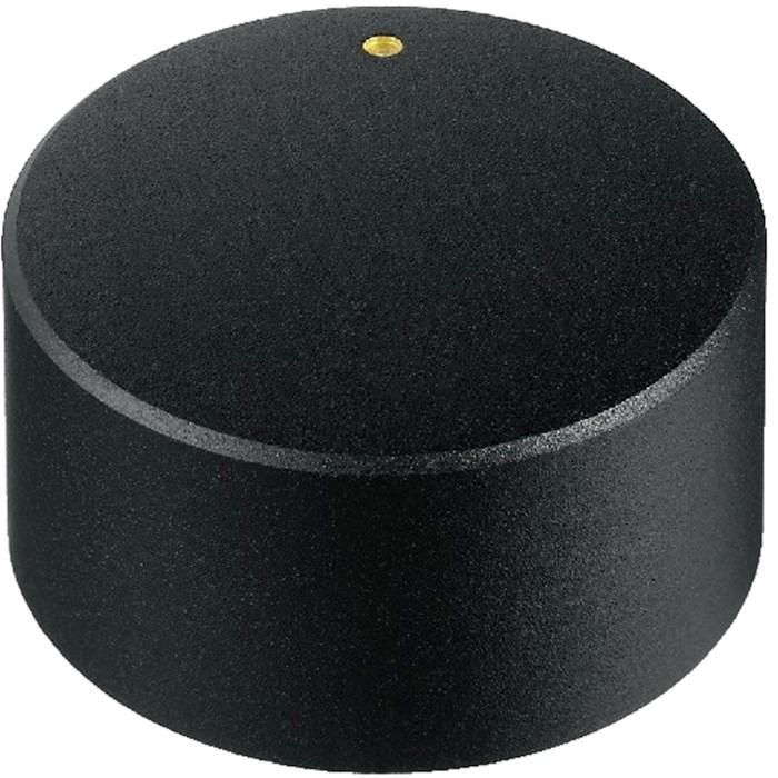 Bouton Axe Cranté 30×18mm Ø6mm Noir pour Potentiomètre