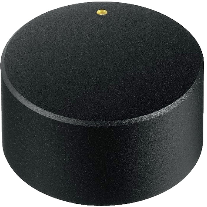 Knob Notched Shaft 30×18mm Ø6mm Black for Potentiometer